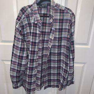 Nautica plaid print shirt    (B3)